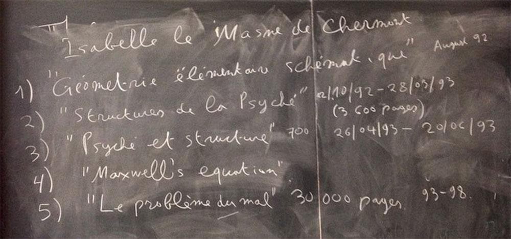 Maltsiniotis blackboard Grothendieck conference